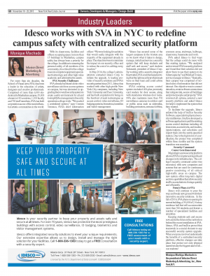 Idesco works with SVA in NYC to redefine campus safety with centralized security platform