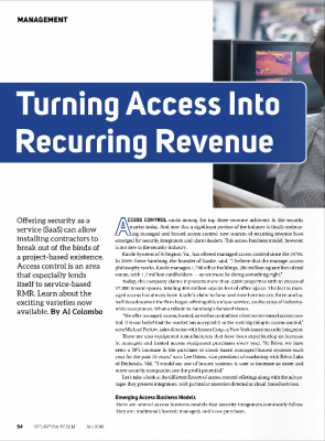 Turning Access Into Recurring Revenue