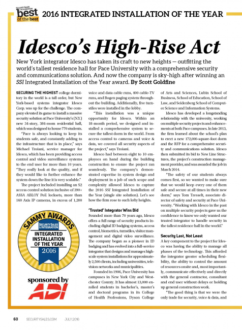 Idesco's High-Rise Act