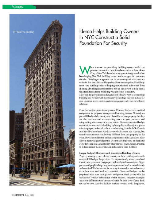 Idesco Helps Building Owners in NYC Construct a Solid Foundation For Security