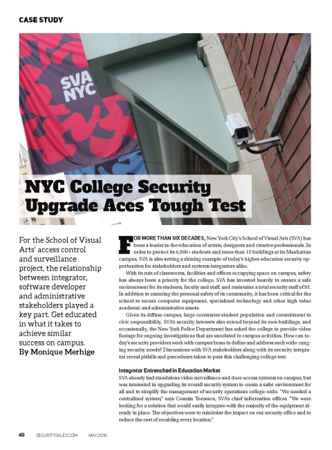 NYC College Security Upgrade Aces Tough Test