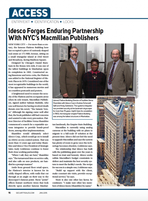 Idesco Forges Enduring Partnership With NYC's Macmillan Publishers