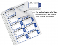Expiring Visitor Agreement Badges Sign-In Book for Corporations