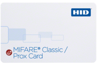 HID 3506 MIFARE Classic + Prox (4K) Standard PVC Card with SIO encoding – Qty 100