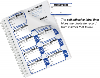 Most Popular Extra Small Visitor Badge Sign-In Book for Schools
