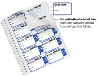 Most Preferred Side Sign-Out Visitor Badge Sign-In Book for Schools