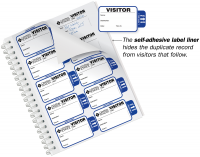 Self-Expiring Visitor Badge Sign-In Book for Schools
