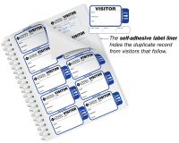 Self-Expiring Sign-Out Visitor Badge Sign-In Book for Schools