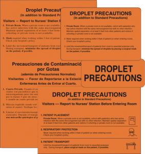 Droplet Precaution Labels