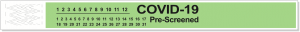 "Short Stay Tyvek Bands - Pre-Printed ""COVID-19 Pre-Screened"""