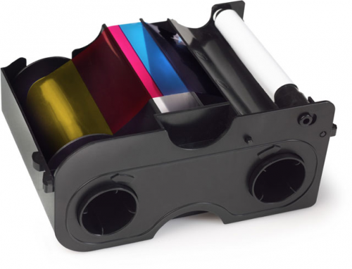 Fargo Full Color Ribbon and Refillable Cartridge - YMCKOK - 200 Prints