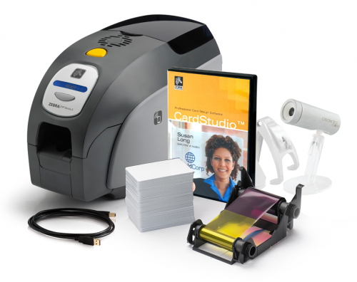 Zebra QuikCard ID Solution with Zebra ZXP Series 3 Dual Sided Card Printer Z32-0000D000US00